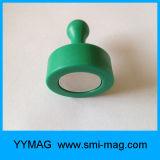 Aimant magnétique décoratif clair transparent de Pin de Cinq-Couleur