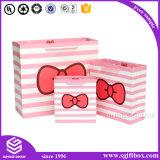 쇼핑 포장을%s 분홍색 인쇄 주문 종이 봉지