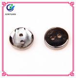 Bouton d'imitation en métal de chemise de bouton de résine de qualité