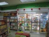 Vidrio templado con la función de Demist Frigorífico de la exhibición del supermercado