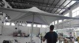 Form-Aluminiumgarten-Regenschirm, der Regenschirm für im Freien bekanntmacht