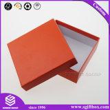 Kundenspezifische rote Farben-Quadrat-Papppapierverpackenkasten mit Hut