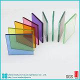 Effacer/lait/Blanc/tempéré /durci/E/ basse en verre feuilleté décoratif avec film vinyle