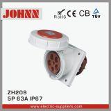 Plot industriel monté par Slopping d'IP67 5p 63A avec la conformité de la CE