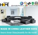 Muebles modernos en forma de U sofá de cuero para el hogar Salón (HC1072)