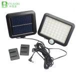 Iluminación solar del LED con el sensor de PIR para la lámpara de calle del jardín