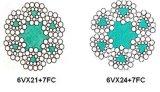 모양 물가 철강선 밧줄 - 6vx24+7FC