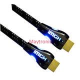 Câble HDMI haute vitesse avec éclairage LED, prise en charge de 3D / 4k / 18gbps / 2160p
