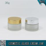 30ml bereiftes Gesichtssahnehaut-Sorgfalt-Lotion-Glas-Glas