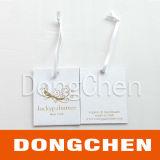 350g Revêtue de papier imprimé vêtement de chaussure Hang Tag