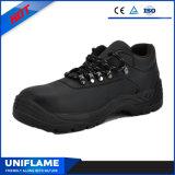 Chaussures de sûreté en cuir lisses de qualité avec le lacet Ufb058