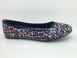 Floral Canvas Flat Ballerinas Ballet Shoes para Lady