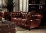 La moderna sala de estar sofá de cuero auténtico juego de muebles