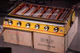 Fornecedor amarelo do equipamento da restauração da grade do BBQ do gás de seis queimadores feito em China