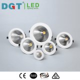 8W LED de la COB Downlight empotrable de techo redondo