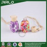 Garrafa de perfume de vidro cercado de polímero de 15 ml com filtro de orifício Perfume de carro Garrafa de vidro usada com tampa de madeira Hing