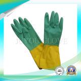 Guanti di funzionamento del lattice impermeabile per materia di lavaggio con buona qualità