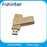 최신 인기 상품 회전대 USB 섬광 드라이브 Customed 로고 USB 기억 장치 목제 USB 지팡이