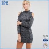 Abbigliamento asimmetrico perforato elastico delle donne di modo