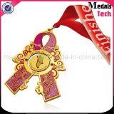 Medalhas feitas sob encomenda de prata brilhantes do Glitter do floco de neve da fábrica chinesa