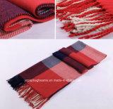 Form-Rasterfeld-Winter-warmer Gitter-Schal der Frauen