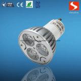 3W GU10 spot LED 110-240V de la lumière avec ce RoHS approuvé