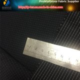 Los hilados de polyester teñieron en la tierra negra, tela blanca del PUNTO para el Windbreaker (YD1185)