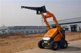 Миниый затяжелитель кормила скида сделанный в Китае для сбывания