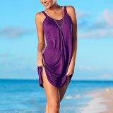 Vestito chiffon casuale da slittamento della spiaggia di svago delle donne di modo