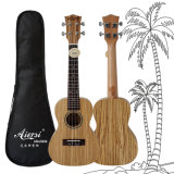 ODM do OEM 24 guitarra do Ukulele de Havaí do corpo do Zebrawood da polegada