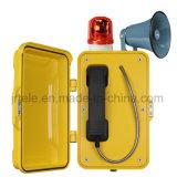 Telefone à prova de intempérie, telefone industrial com luz, telefone de emergência com discagem rápida
