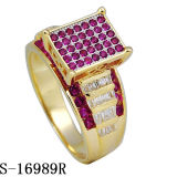 Ultimo argento di modello 925 dell'anello di diamante dei monili di modo