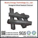 آلة صنع سداسي الخشب الصلب نشارة الخشب شوى الفحم
