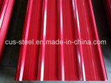 Coloridos techos ondulados de color de hoja y hoja de acero galvanizado recubierto