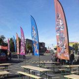 Напольной термально полиэфир пера флагов пляжа стеклоткани печатание сублимации краски изготовленный на заказ связанный рекламой