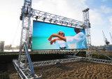 Im Freien farbenreiche Miete P6 LED-Bildschirmanzeige mit druckgießendem Aluminiumpanel 576X576mm