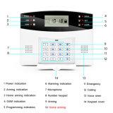 Visualización del LCD y sistema sin hilos gestionado telclado numérico de alarma casera del G/M