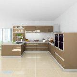 De in het groot Moderne Hoge Glanzende Keukenkasten van de Reeks van de Lak