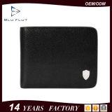 Продажа в режиме реального Cowhide горячего черного цвета кожи Card Wallet для мужчин
