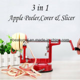 Dispensador de Apple sacatestigos Slicer Máquina con la base de ventosa de vacío - giratorios de hierro fundido Spiralizer dispensador para Apple encimera con cuchillas de acero inoxidable Esg10159