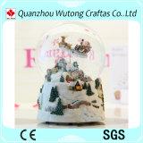 De naar maat gemaakte Goedkope Bol van de Sneeuw van de Muziek van Kerstmis van de Hars