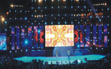 P10/pliable LED Flexible pour l'écran de rideau pour Outdoor Indoor Stage/fond de l'événement