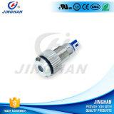 Jh8-LED 8mm avec le commutateur de bouton poussoir terminal en métal de Pin de tête plate de voyant de lampe