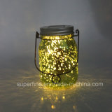 Natal pisca Firefly Rice Light no Glass Mason Jar