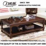 Table à café ronde en bois massif de conception simple pour salle de séjour à usage domestique avec bonne qualité As840A