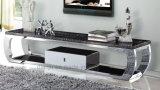 Governo semplice di Mable TV della mobilia moderna dell'acciaio inossidabile (S8036)