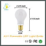 Tampa de vidro branco leitoso Base média A19 Dimmable LED Bulb