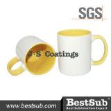 Сублимация покрытий Js Mugs внутренняя кружка цвета оправы 11oz - желтое B11taa-03