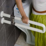 Toilet and Bathroom Stainless Steel and Nylon U-Shape Grab Bars