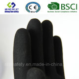 Покрытие нитрила, перчатки работы безопасности отделки Sandy (SL-NS112)